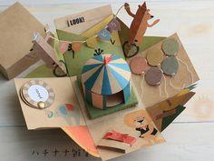 Cardboard Box Crafts, Paper Crafts, Scrapbooking Journal, Diy For Kids, Crafts For Kids, Pop Up Art, Paper Pop, Origami Paper, Diy Cards