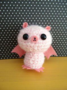 """Crochet Amigurumi Bat (Pink)"" #Amigurumi #crochet"