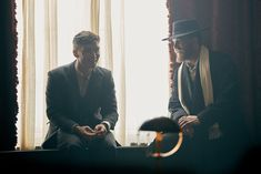 """The """"Bogart & Bacall of the British Film Industry"""" are back next Thursday! (on the set of Peaky Blinders with Cillian Murphy and Tom Hardy, Nov 11 2015 via Digital Spy) Peaky Blinders Thomas, Cillian Murphy Peaky Blinders, Boardwalk Empire, Birmingham, Alfie Solomons, Bbc, Peaky Blinders Season, Steven Knight, Joe Cole"""