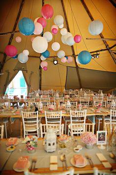 lanterne salle fête de mariage