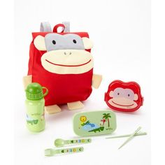 Take a look at this Red Monkey Safari Friends Travel Lunch Set by green sprouts on today! Lunch To Go, Lunch Box, Travel Lunches, Utensil Set, All Things Cute, Stainless Steel Bottle, Bento Box, Baby Shop, Sprouts