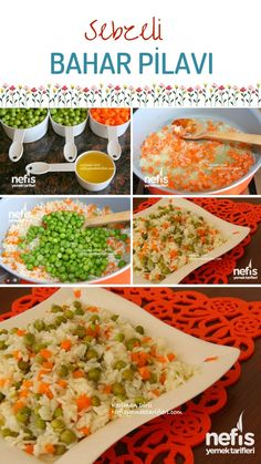 Spring Pilaf with Vegetables (with Olive Oil) - Yummy Recipes, Meat foods Turkish Recipes, Ethnic Recipes, Food Articles, Homemade Beauty Products, Iftar, Meat Recipes, Yummy Recipes, Health Fitness, Food And Drink