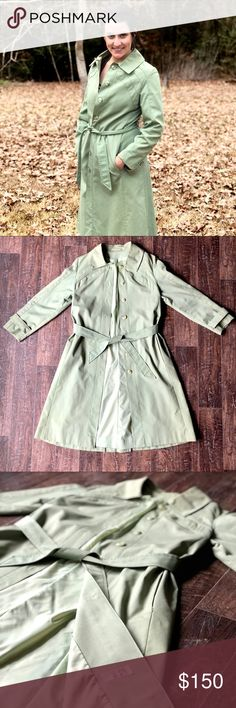 VINTAGE Sears All Weather Coat 70s S/M VINTAGE Sears All Weather Coat from the 1970s. Great condition except there is one button missing right where the belt ties. Mint green and very beautiful! Please feel free to message me with any questions! Sears Jackets & Coats