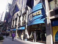 """The Fifth Ave. store of The Wiz electronics chain is seen on February 12, 2003. Cablevision, which owns the retailer is closing the 17 remaining The Wiz stores if a buyer cannot be found.  In August 2002 Cablevision, in a bid to cut costs and increase profit closed about half of the chains' stores. A weak retail economy and other factors has been cited as the reason. The chain was started in 1976 by Norman Jemal as """"Nobody Beats the Wiz"""" and was sold to Cablevision in 1996. (© Richard B…"""