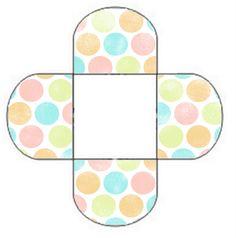Cajas Abiertas con Lunares de Colores para Imprimir Gratis.