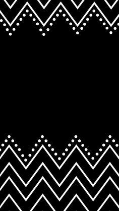 Pretty simple black and white phone wallpaper. <3