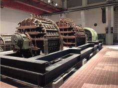 Die erhaltene Maschinerie im Obergeschoss.