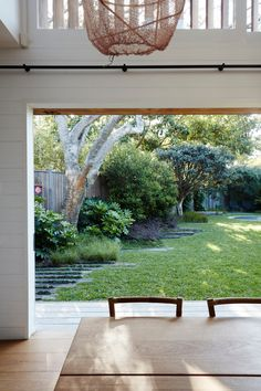 Landscape architect William Dangar replaced a derelict house in Australia with a smaller one to make more room for his family garden with a fish pond, large lawn, and specimen trees in suburban Bondi Beach. Family Garden, Home And Garden, Large Backyard Landscaping, Landscaping Ideas, Privacy Landscaping, Coastal Landscaping, Backyard Designs, Landscaping Software, Modern Landscaping