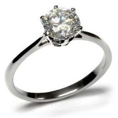 Stainless Steel 2 Carat Round Engagement Ring Size 5/6/7/8/9/10 EC Lanes. $11.95. Stainless Steel Solitaire Round Prong Set Cubic Zirconia Engagement Ring, features a solitaire round cut 7mm 2.3 ct. faux diamond at the center.