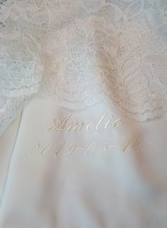 Baptism Outfit, Christening Gowns, Font Styles, All Pictures, New Product, Presents, Bows, Make It Yourself, Embroidery
