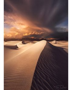 Featured Photo from the Fstoppers Community - Title: Hourglass Photographer: Ted Gore @tedgorephotography  An impressive cloud formation passes over the Mesquite sand dunes in Death Valley National Park. I've been lucky to get some pretty interesting conditions the few times I've been to this area. One of my favorite things I've done in the wilderness is to be comfortably settled into the nice soft sand watching weather move through the valley. Such a cool place. by officialfstoppers