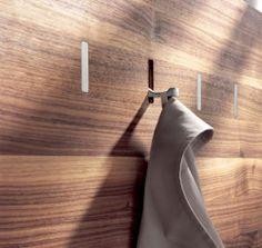 "thedesignwalker: "" : Luxury Modern, Coats Hooks, Hooks Details, Wall Hooks, Modern Coats, Coats Racks, Wall Panels, Coats Hangers, Furniture Details """