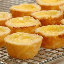 Mini Lemon Tarts ~ With a flaky, rich cream cheese pastry crust and a zesty lemon filling, these mini tarts are delicious two-bite treats.