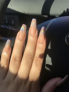 Semi-permanent varnish, false nails, patches: which manicure to choose? - My Nails Best Acrylic Nails, Acrylic Nail Designs, Holographic Nails Acrylic, Acrylic Nails For Summer Coffin, Best Nails, Bright Summer Acrylic Nails, Birthday Nail Art, 50 Birthday, Bright Summer Nails