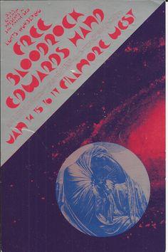 Free, Bloodrock, Edwards Hand, Fillmore West, January 14-17, 1971. Artist David Singer