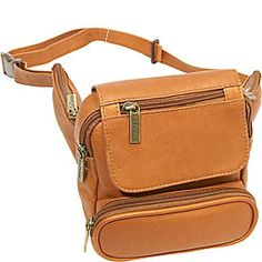 (Limited Supply) Click Image Above  Le Donne Leather Traveler Waist Bag -  Tan 8fed610db6a