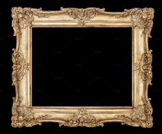 Golden picture frame on black background with clipping path 1 high quality full size JPEG file x px ca. MB clipping path included Please look Flowers Black Background, Frame Background, Background Pictures, Antique Picture Frames, Vintage Photo Frames, Antique Photos, Photo Frame Decoration, Pendulum Wall Clock, Shabby Chic Frames