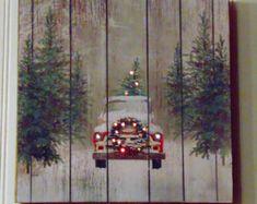 Handmade Christmas Sign Wooden Christmas Sign by TreesHolidayToday