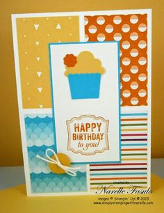 Create a cupcake ; Label love ; Artisan label punch ; Itty bitty shapes punch pack ; Birthday