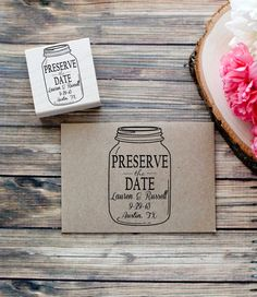 Custom Mason Jar Preserve the Date Wedding by RedCloudBoutique