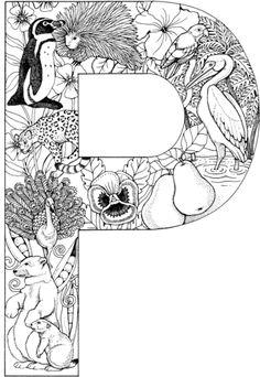 La Letra P Dibujo para colorear