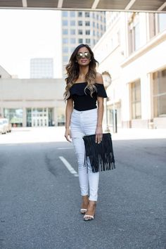 Ready For Spring With Nordstrom. - Mia Mia Mine. Topshop Bodysuit, Topshop White Jeans, Steve Madden Heels, Sole Society Bag, Le Specs Sunglasses