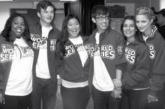 The Glee cast.