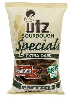 Utz Extra Dark Specials Pretzels. These are the best! A taste you can never forget!