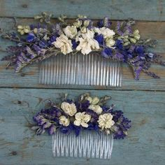 Provence Dried Flower Hair Comb by The Artisan Dried Flower Company, the perfect gift for Explore more unique gifts in our curated marketplace. Flowers In Hair, Dried Flowers, Wedding Flowers, Diy Wedding, Floral Hair, Floral Crown, Bridal Headpieces, Bridal Hair, Provence Wedding