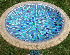 mosaic bird bath - Google Search