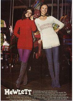 Finnfemme Blog: Vintage 1971 Hewlett sweater hot pants set