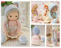 New! Little Yarn Dolls: Method 2/ PDF Doll Knitting Pattern / Toy Knitting Pattern/ Knitted Dolls/ INSTANT Download
