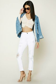 Distressed Mid-Rise Jeans | Forever 21