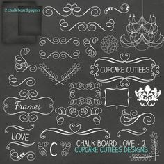 Chalkboard+Frames+and+digital+matching+papers+includes+2+chalkboard+digital+papers,+chalkboard+swirly+graphics,+chalkboard+banners,+chalkboard+frames+and+other+elements.+Great+for+invitations,+cards,+and+paper+goods.+Great+scrapbooking+papers!+20+White+PNG+[...]