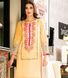 Orient Embroidered Lawn Kurti Collection 2015 OTL_114A