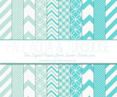 Free Digital Paper Set: Pale Aqua and Turquoise