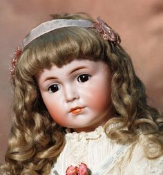 """Lot: BEAUTIFUL GERMAN BISQUE """"MEIN LEIBELING"""" MODEL 117 BY, Lot Number: 0103, Starting Bid: $2,000, Auctioneer: Frasher's Doll Auction, Auction: Doll Auction - So Happy Together, Date: October 20th, 2013 EDT"""