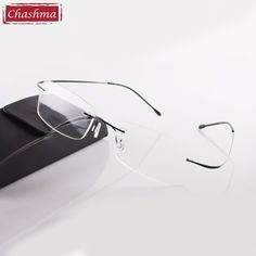 f33ddaa4f7d9 Chashma Hot Selling Chashma Brand Titanium Rimless Ultra Light Glasses Frame  Fashion Reading Glasses Man and Women with Case-in Reading Glasses from  Women s ...