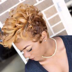 www.Dontejeffery.com Funky Short Hair, Short Hair Cuts, Short Hair Styles, Pixie Cuts, Short Pixie, Permed Hairstyles, Straight Hairstyles, New Hair Do, Jackson