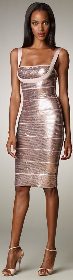 Herve Leger - Not sure anyone else except this model could make this dress look like this. Wow!