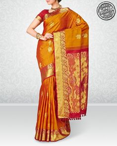 9b2f3bb1cf12c5 #Kanjivaram Silk Sarees are the best adorned in #Wedding. Checkout these  brilliant #