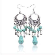 Boho Earrings✨6 available✨ Beautiful Tibetan Silver earrings. New in package. Jewelry Earrings