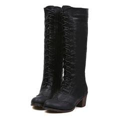 British Style Women's Knee-High Boots With Openwork and Zipper Design (CAMEL,39) | Sammydress.com