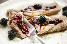 Blackberry Jam & Almond Creme Crepe