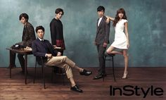 Hong Jong-hyun, Lee Chun-hee, Jo Yoon-woo, Lee Jong-hyuk, & Choi Soo-young // InStyle Korea // July 2013
