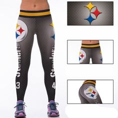 Woman Yoga Pants Fitness Fiber Sports Steelers Leggings Tights American football Trousers Exercise Training Clothing Sportswear