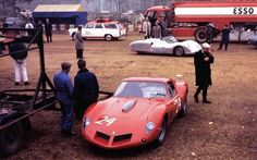 1963 April Le Mans 24h, test day, paddock, Equipe Nationale Belge with the Ferrari 250 GTO Drogo nr24