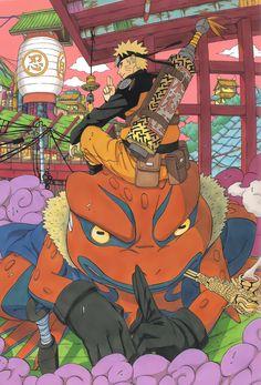 Gamakichi & Naruto.. i miss watching anime