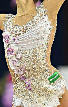 Rhythmic gymnastics leotard close-up