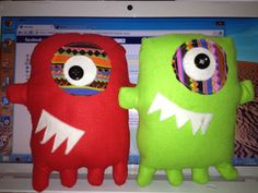 Monster plushies http://www.etsy.com/uk/shop/StitchedUpByKara